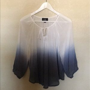 Awesome ombré peasant shirt